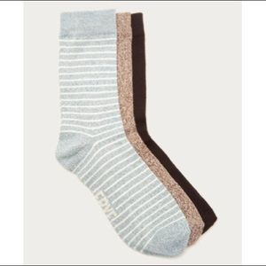 Frye Co. Supersoft Crew Socks 3-Pk NWT